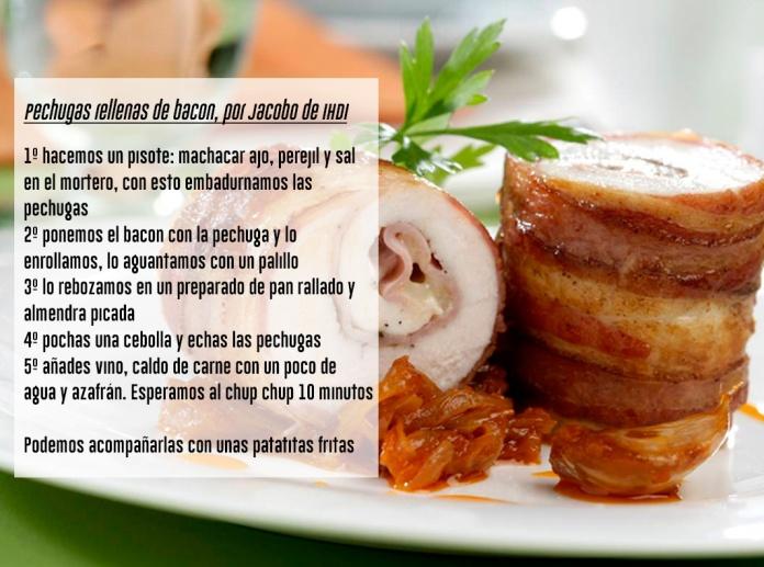 Receta de Jacobo de las pechugas rellenas de bacon